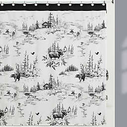 Sketches Shower Curtain in Black/White