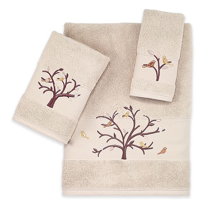 Bath Towel Sets Feather: Avanti Birds Of A Feather Turkish Cotton Hand Towel In