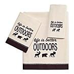 Avanti  Life is Better Outdoors  Velour Bath Towel in Ivory