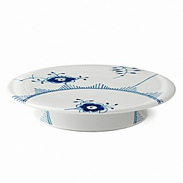 Royal Copenhagen Fluted Mega Footed Cake Plate in Blue