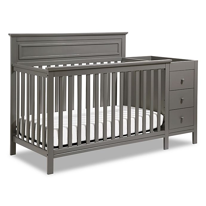 d32f1205057c7 DaVinci Autumn 4-in-1 Crib   Changer Combo in Slate