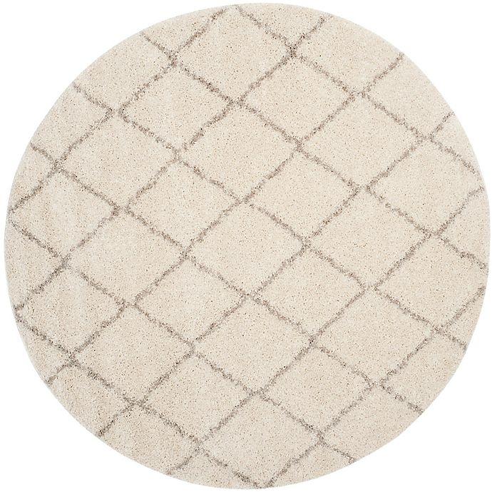 Alternate image 1 for Safavieh Arizona Shag 79-Inch Round Area Rug in Ivory/Beige
