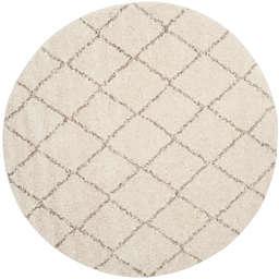 Safavieh Arizona Shag 79-Inch Round Area Rug in Ivory/Beige