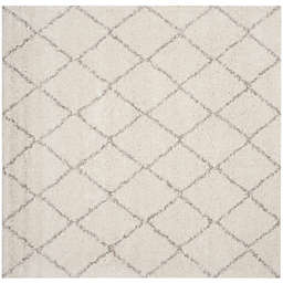 Safavieh Arizona Shag 79-Inch Square Area Rug in Ivory/Beige