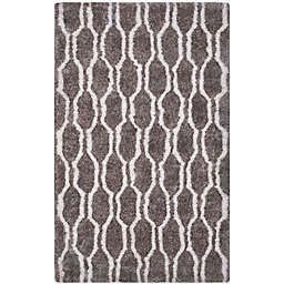 Safavieh Barcelona 8-Foot x 10-Foot Shag Area Rug in Silver/Ivory