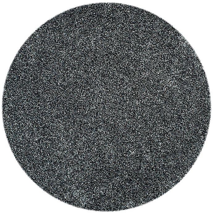 Alternate image 1 for Safavieh Malibu 5-Foot Round Shag Area Rug in Charcoal