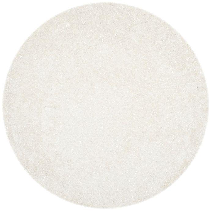 Alternate image 1 for Safavieh Malibu 7-Foot Round Shag Area Rug in White