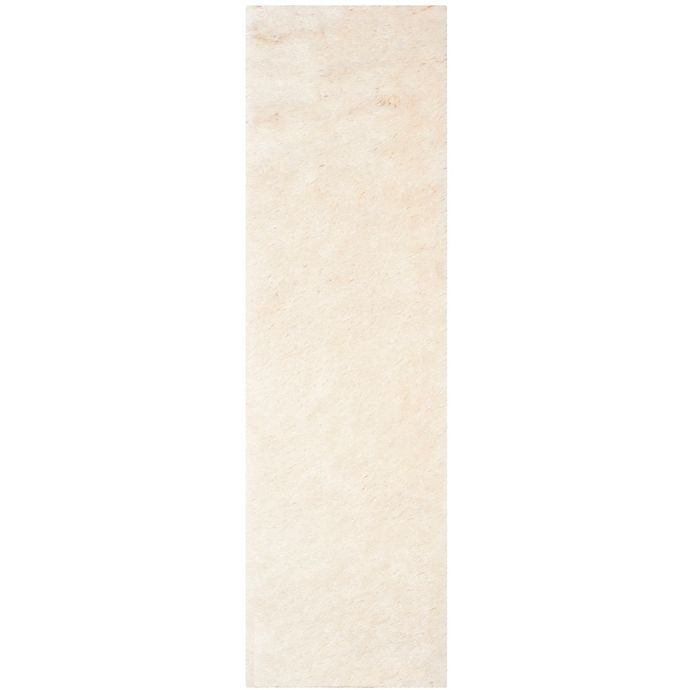 Alternate image 1 for Safavieh Paris 2-Foot 3-Inch x 10-Foot Shag Runner in Ivory