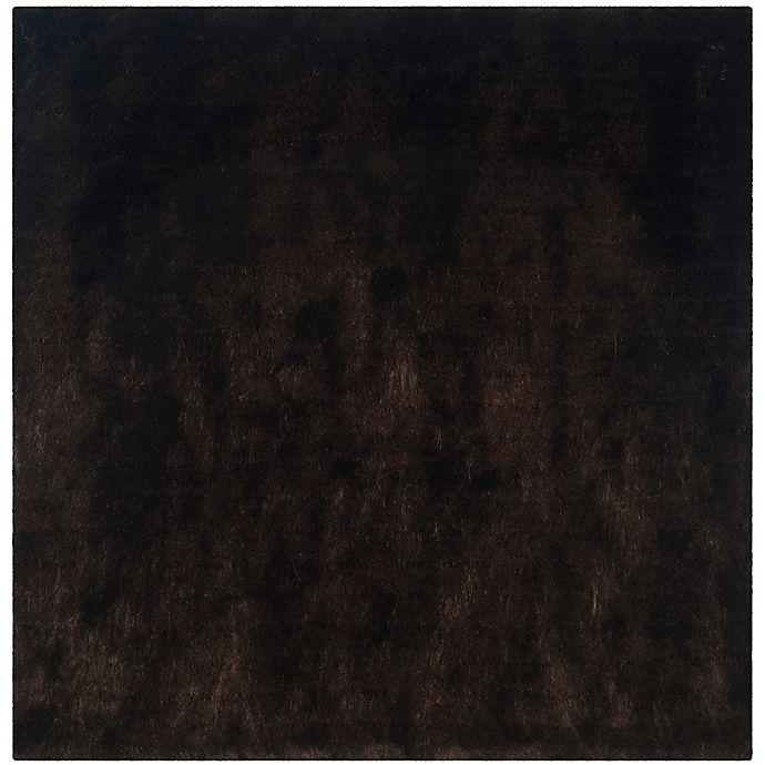 Alternate image 1 for Safavieh Paris 7-Foot Square Shag Area Rug in Chocolate