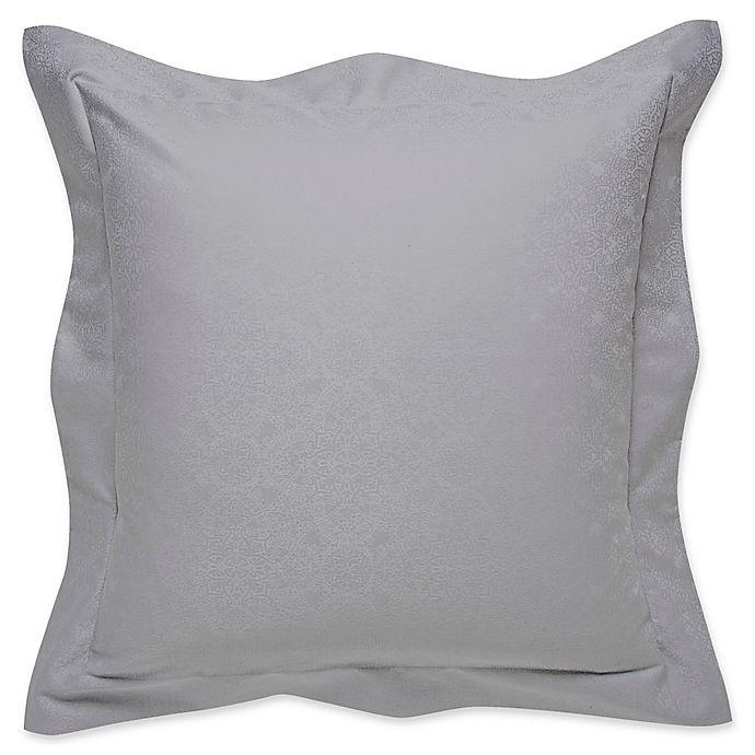 Alternate image 1 for Frette At Home Arabesque Coverlet European Pillow Sham in Grey