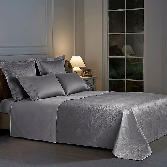 Alternate image 1 for Frette At Home Arabesque Queen Coverlet in Grey