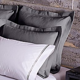 Frette At Home Creta European Pillow Sham in Grey