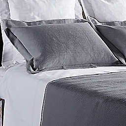 Frette At Home Creta King Pillow Sham in Grey
