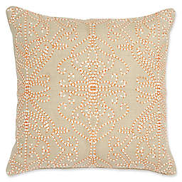 Harlequin Amazilia Quilted Square Throw Pillow in Bone/Linen