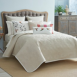 Harlequin Amazilia Reversible Coverlet in Linen/Bone