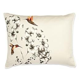Harlequin Amazilia Reversible Pillow Sham in Orange/Pink