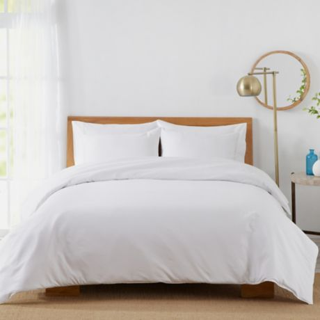 Buy 450 Thread Count Cotton Sateen Twin Duvet Cover Set In