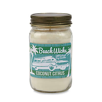 Beach Wicks Coconut Citrus Soy Jar Candle