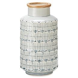 Madison Park Averly Modernist Vase in Grey