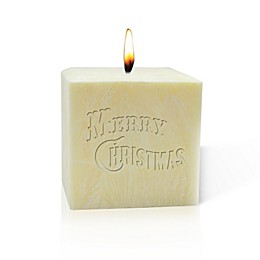 Carved Solutions Merry Christmas Pure Aromatherapy Palm Candle