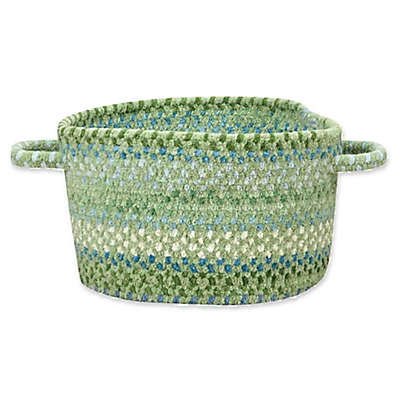 Capel Rugs Waterway Braided Basket in Green