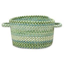 Capel Rugs Waterway Braided Basket in Green