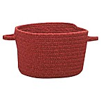 Capel Rugs Manteo Large Braided Basket in Dark Red