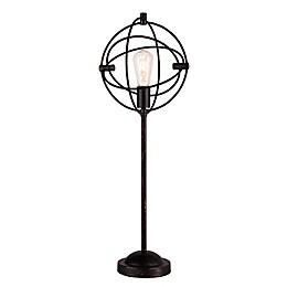 Southern Enterprises Burnaby Orb Table Lamp in Black Matte