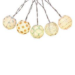 10-Light Paper Ball LED String Light Set