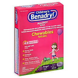 Children's Benadryl® 20-Count Allergy Chewables Tablets in Grape