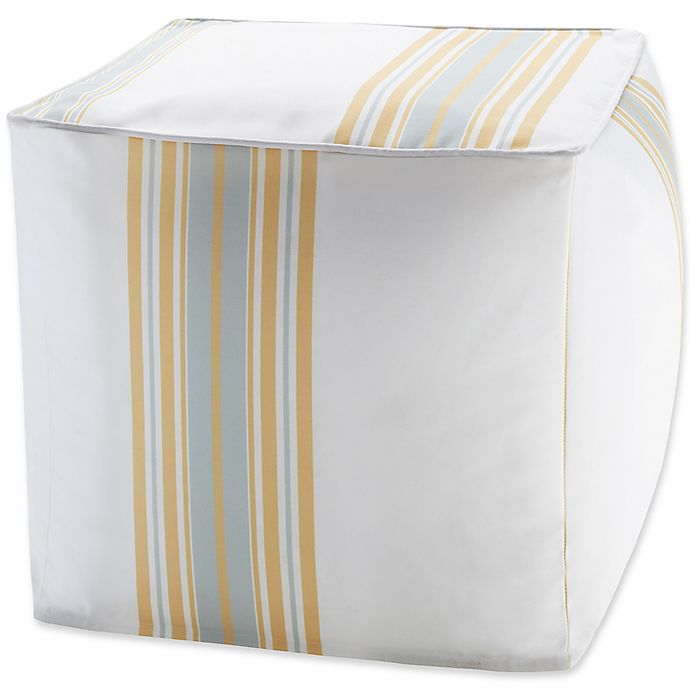 Alternate image 1 for Madison Park Sandbar Stripe 3M Scotchgard™ Square Outdoor Pouf