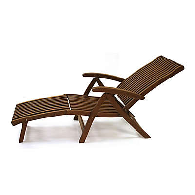 Outdoor Interiors Venetian Eucalyptus Lounger