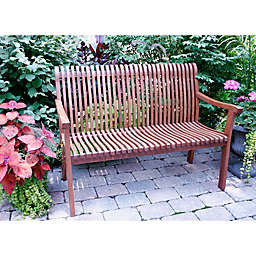 Outdoor Interiors Venetian Eucalyptus Bench
