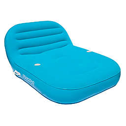 Sun Comfort Cool Suede Double Chaise Lounge Float in Sapphire
