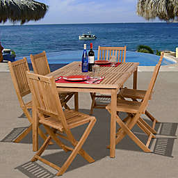 Amazonia Prague 7-Piece Teak Wood Outdoor Patio Dining Set
