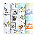 aden® Disney by aden + anais® 4-Pack Winnie the Pooh Muslin Swaddle Blankets