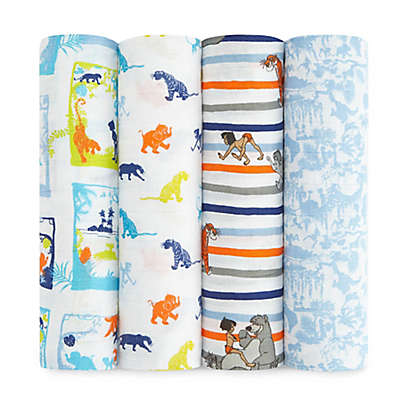 aden® Disney by aden + anais® 4-Pack Jungle Book Muslin Swaddle Blankets