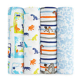 aden + anais® 4-Pack Jungle Book Muslin Swaddle Blankets