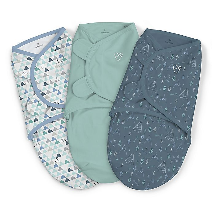 Alternate image 1 for SwaddleMe® 3-Pack Large Mountaineer Boy Original Swaddles in Green