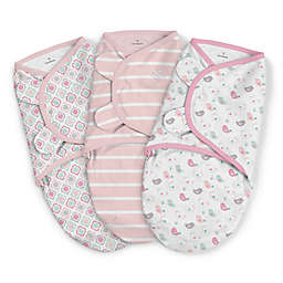 SwaddleMe® 3-Pack Large Fly Away Birds Original Swaddles in Pink