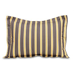 Glenna Jean Melrose Striped Pillow Sham in Marigold/Charcoal