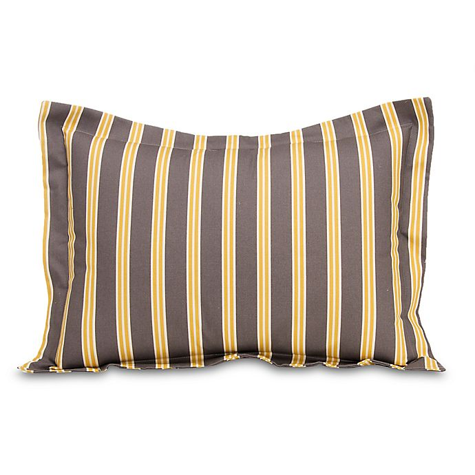 Alternate image 1 for Glenna Jean Melrose Striped Pillow Sham in Marigold/Charcoal