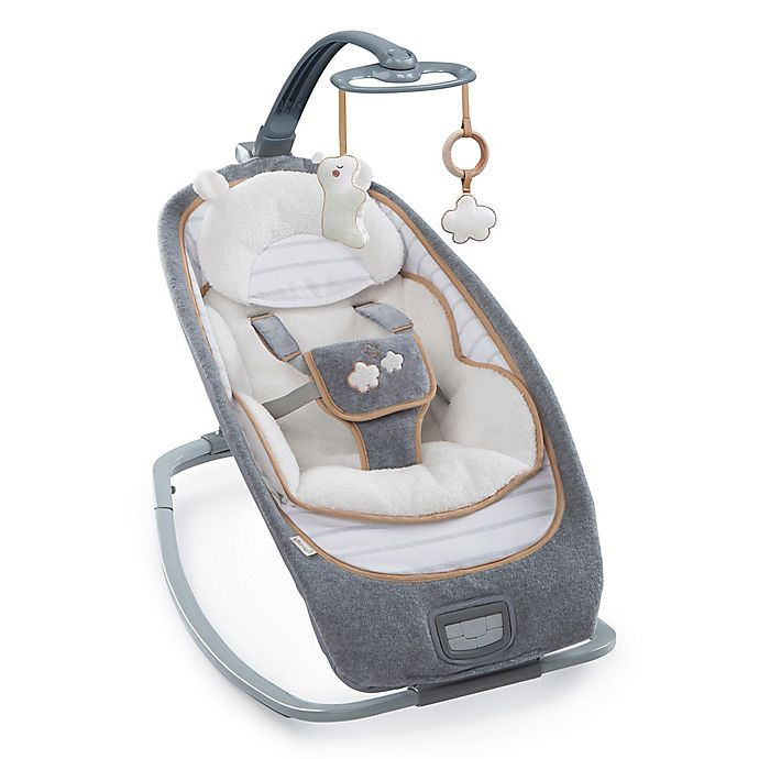Alternate image 1 for Ingenuity™ Boutique Teddy Convertible Rocker in Grey