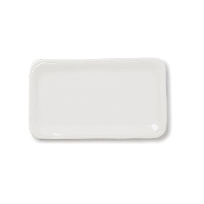 Alternate image 1 for viva by VIETRI Fresh Small Rectangular Platter in White