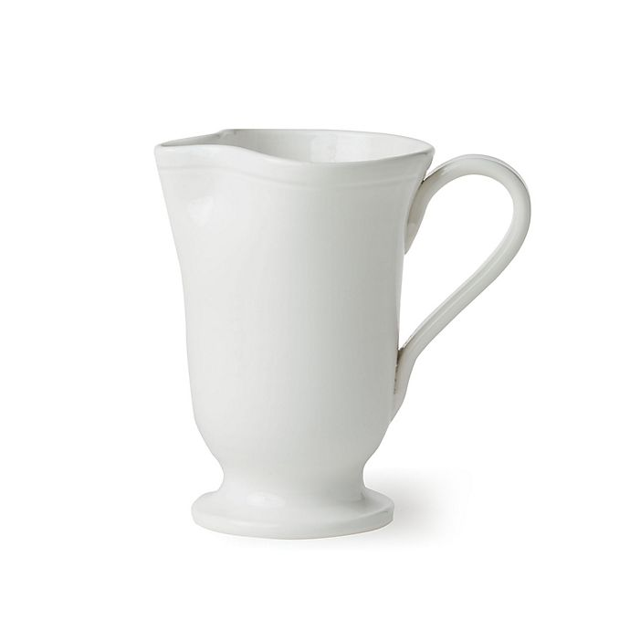 Alternate image 1 for viva by VIETRI Fresh Large Footed Pitcher in White