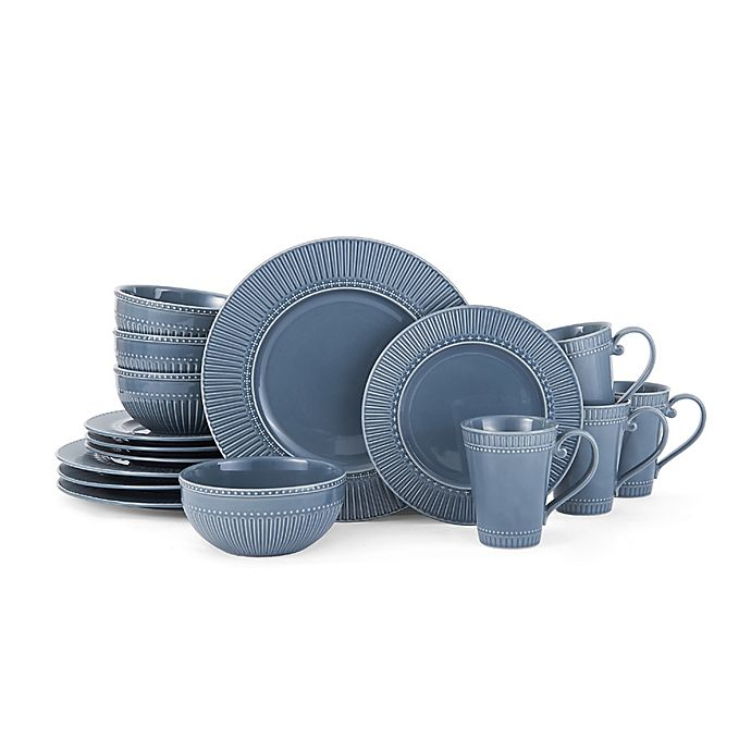 Alternate image 1 for Mikasa® Italian Countryside Accents Fluted Dinnerware Collection in Blue
