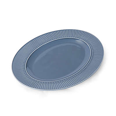 Mikasa® Italian Countryside Accents Fluted 15-Inch Oval Platter in Blue