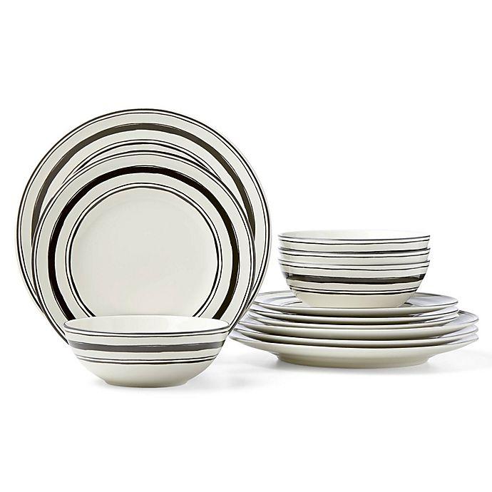 Alternate image 1 for Lenox® Around the Table Stripe 12-Piece Dinnerware Set