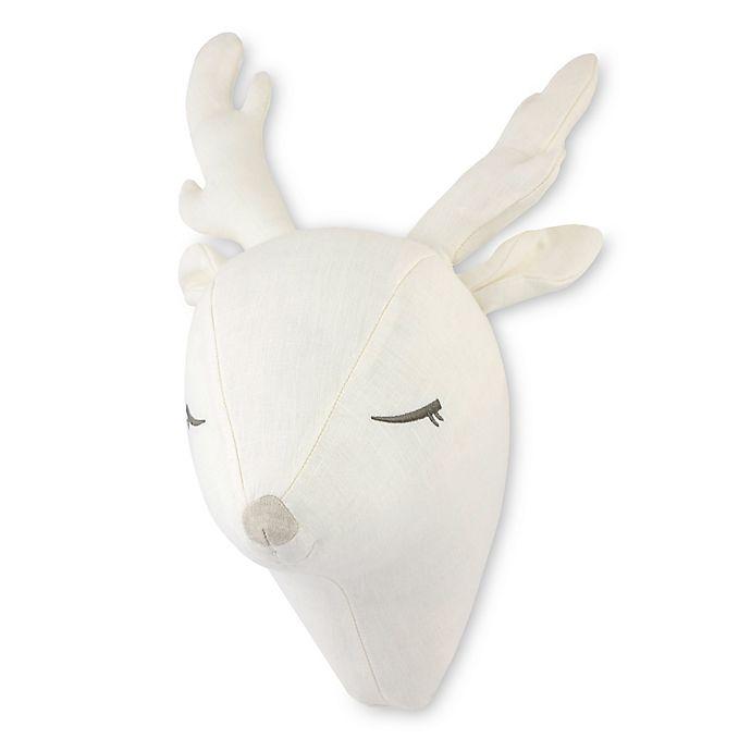Alternate image 1 for Just Born® Keepsake Plush Deer Head Wall Art in White