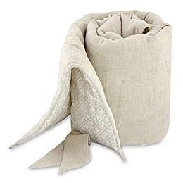 Just Born® Keepsake Washed Linen Crib Rail Guard in Flax